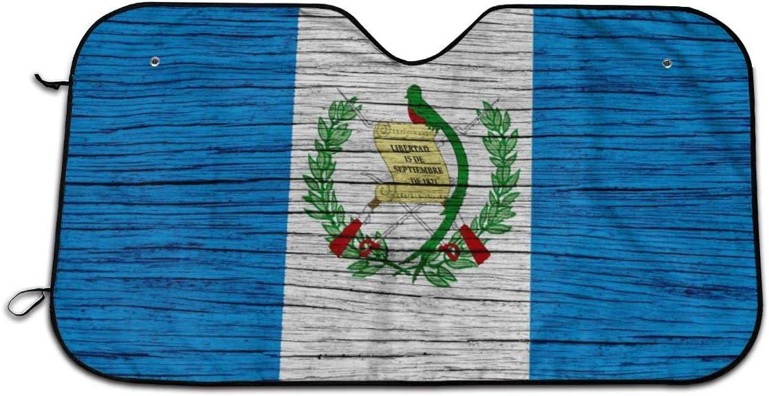 Guatemala Wooden Texture Guatemalan Flag Windshield Sun Shade Sunshades Keep Vehicle Cool from Sun Heat /& Glare Uv Ray Visor Protecto Car Accessories