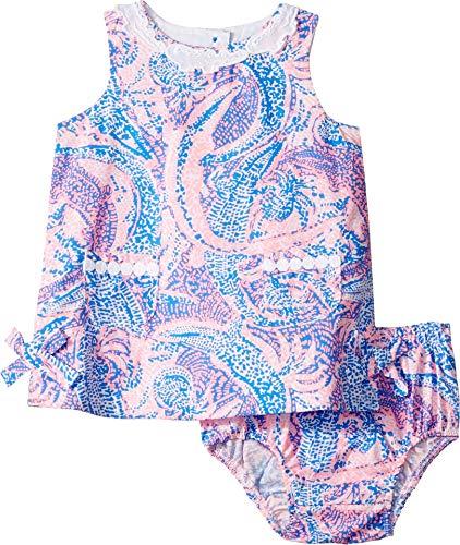 - Lilly Pulitzer Girls Baby Lilly Shift, Coastal Blue Maybe Gator 18-24 M