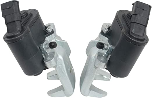 Pair Brake Caliper w// Actuator Kit For Audi A6 S6 RS6 04-11 Rear 4F0615403A//404A