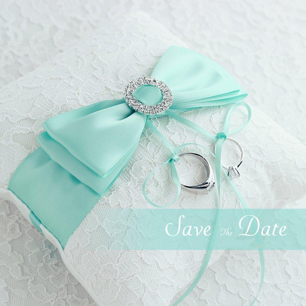 Amazoncom Tiffany Blue Wedding Favor Heart Shaped Gift Ring Box