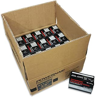 "product image for Powernail 20 Ga. Staples, 13/32"" Crown, 3/8"" leg, Divergent Point. Case of 20-5,000ct boxes"