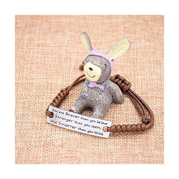 O.RIYA You are Braver than you believe Charming Little Inspirational Bracelet