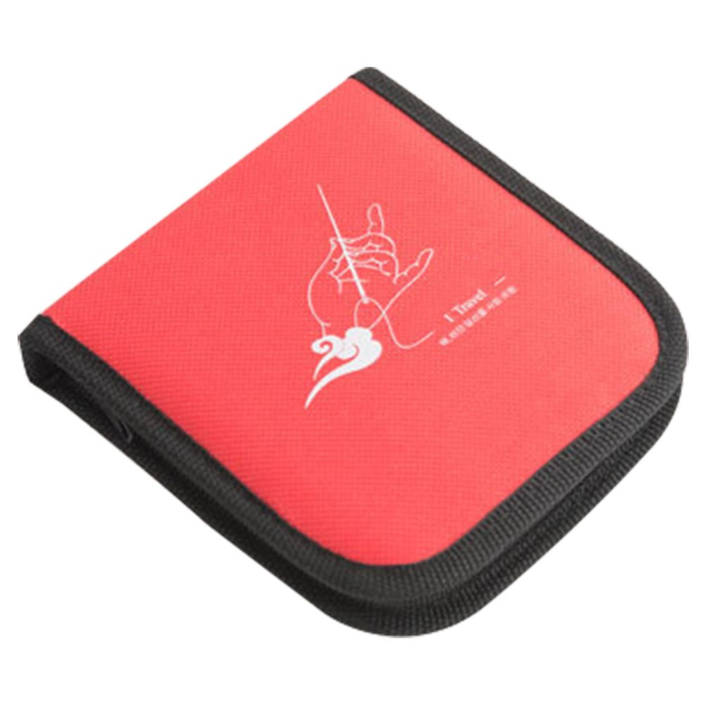 CHUANGLI Soft Zippered Mini Sewing Kit for Travel Professional Emergency Use Portable Starter Sewing Kits Red