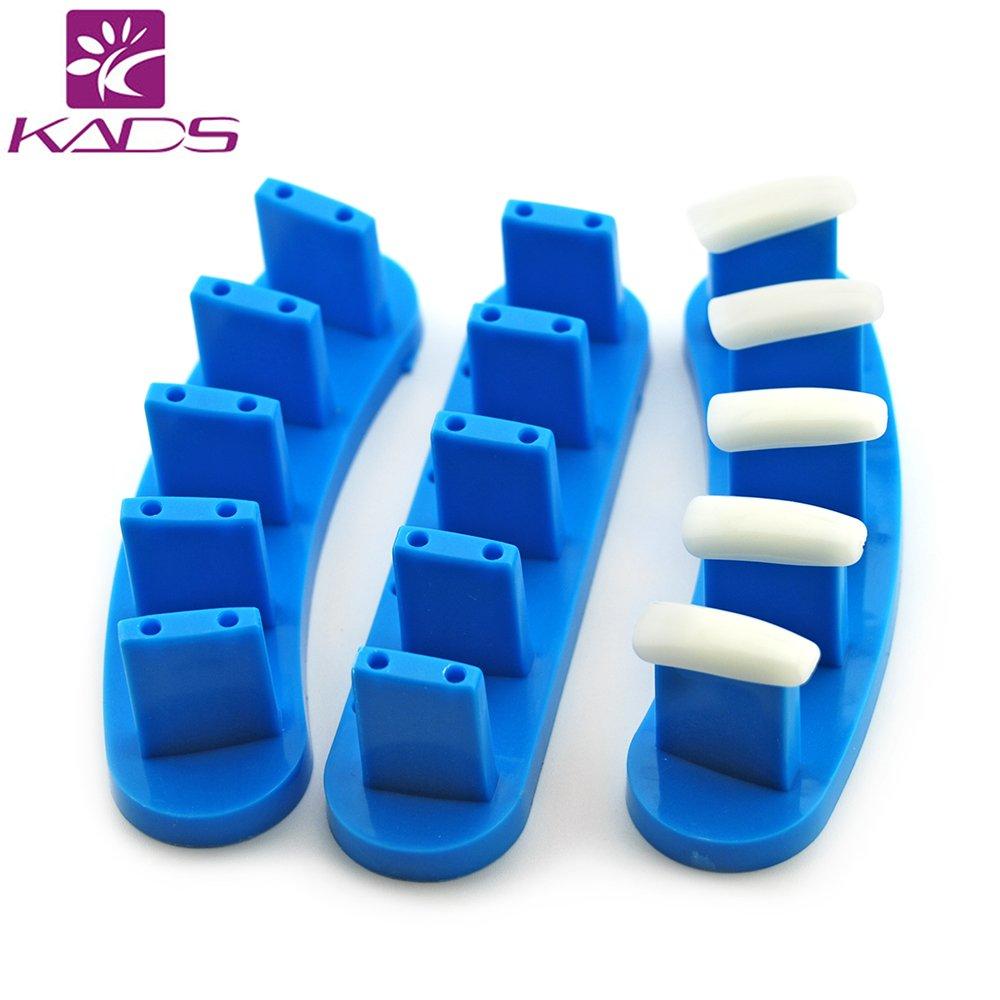 KADS, Fingerspitzenständer, 3-teiliges Set, Kunststoff, als Trainingsvorrichtung oder zum Auflegen der Fingerspitzen beim Nageldesign Fingerspitzenständer KADS Co. Ltd