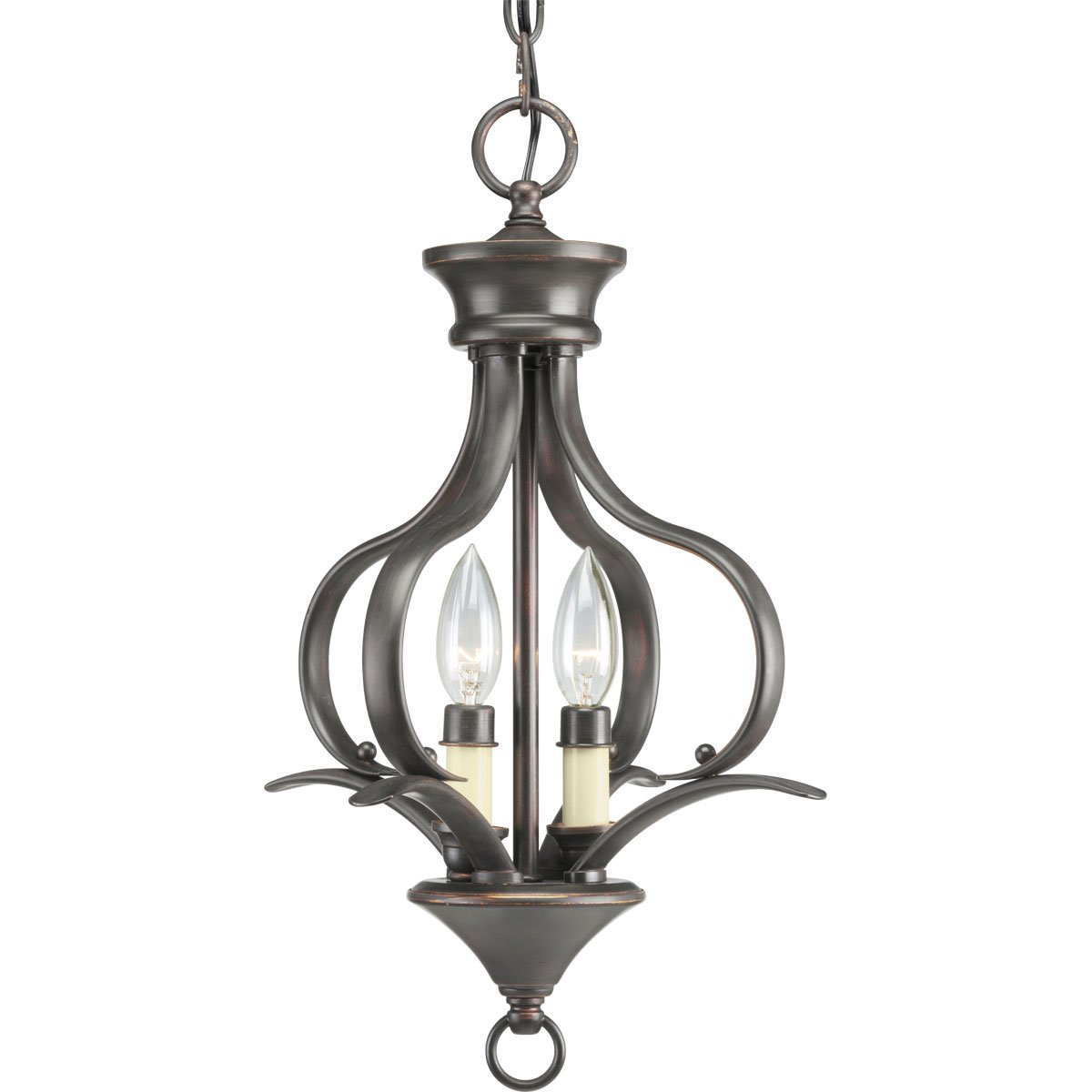Progress lighting p3806 20 2 light foyer fixture antique bronze progress lighting p3806 20 2 light foyer fixture antique bronze chandeliers amazon aloadofball Choice Image