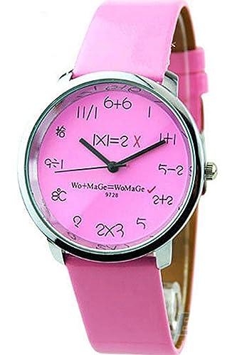 1bcd0c11dbe8 Para niños y niñas profesor Matemáticas escuela tiempo Smart rosa reloj -  mujer - perfecto para alta calidad barata cumpleaños aniversario boda Funny  Party ...