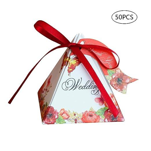 Wankd - 50 Cajas de Regalo para Dulces, Pasteles, Chocolate ...