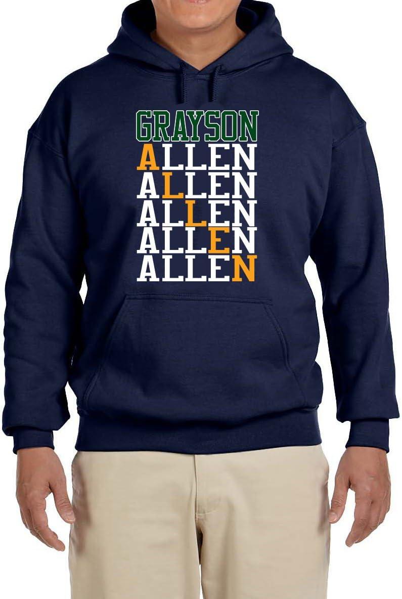 Peg Leg Shirts NAVY Utah Allen Text Hooded Sweatshirt