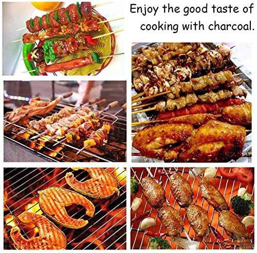 Lin Barbecue à Charbon, Barbecue Pliant Portable, BBQ de Table en Acier Inoxydable, pour Barbecue de Jardin extérieur Camping Pique Nique pour 2-3 Personnes