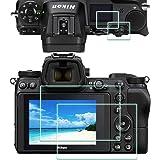 Z6 Z7 toppskärmskydd för Nikon Z7/Z6 kamera [2+2Pack], ULBTER 0,3 mm 9H hårdhet ultraklart härdat glas flim anti…