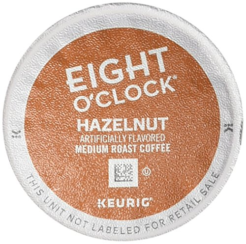 Eight O'Clock Coffee Hazelnut, Keurig K-Cups, 12 Count, (Pack of  6)