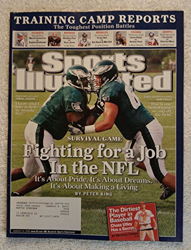 Jamaal Jackson & Hank Fraley - Philadelphia Eagles - Fighting for a Job in the NFL - Sports Illustrated - August 14, 2006 - Chase Utley (Philadelphia Phillies) Article - - Jobs Sports Shop
