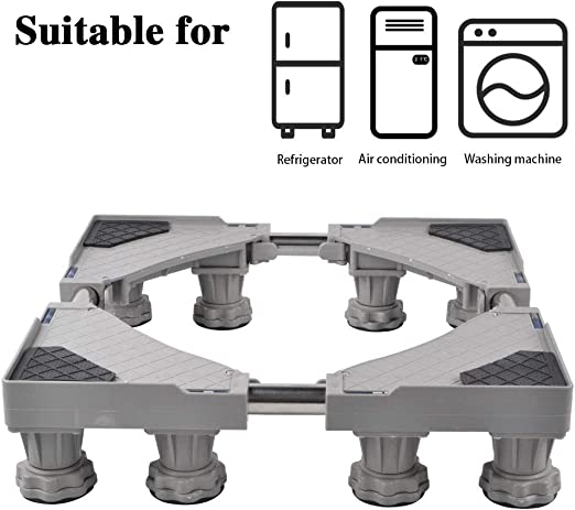18-24 inch Multi-Functional Adjustable Movable Base for Washer Refrigerator Dryer Wall Oven Air Conditioner Range with 4 Ajustable Lifting Feet