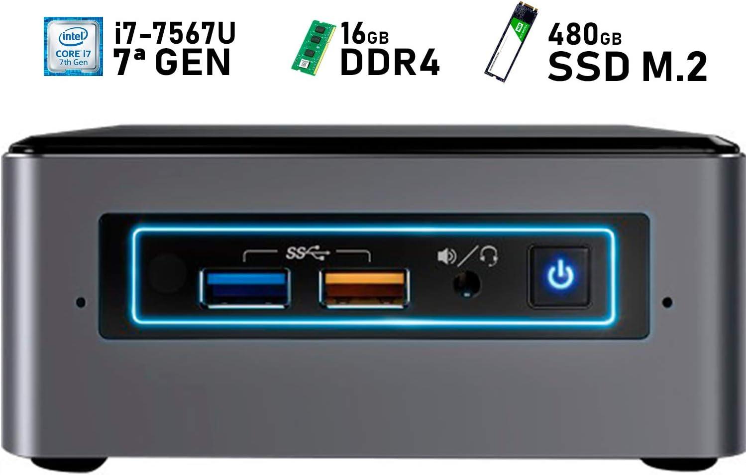 Intel NUC i7-7567U + 16GB DDR4 + 480GB SSD M.2 + Windows 10 Pro ...