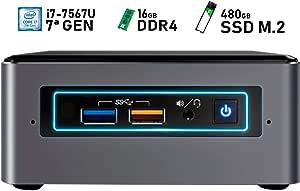 Intel NUC i7-7567U + 16GB DDR4 + 480GB SSD M.2 + Windows 10 Pro ESPAÑOL | Mini PC - NUC7I7BNH
