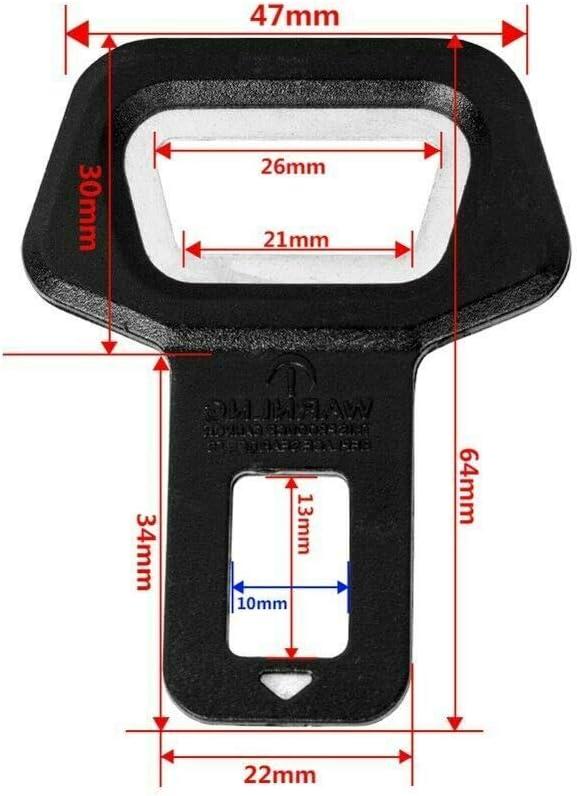 2 Universal Vehicle Safety Seat Belt Buckle Insert Alarm Stopper Bottle Opener Seat Belt Clip