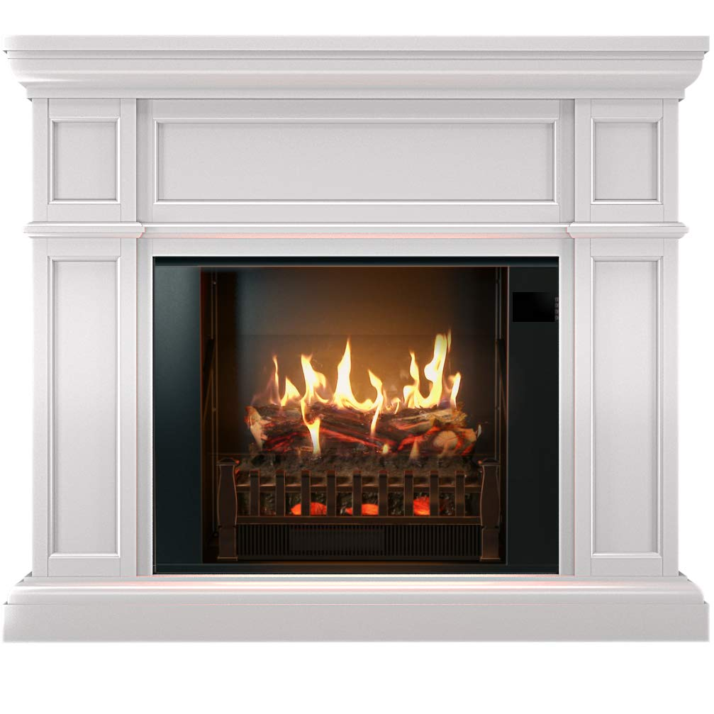 Swell Magikflame Electric Fireplace And Mantel Artemis White Electric Fireplaces With Heater Large White Electric Fireplace Heater 26 Realistic Flame Download Free Architecture Designs Scobabritishbridgeorg