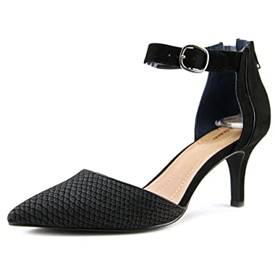 Style & Co. Womens Wyild Pointed Toe Ankle Strap D-orsay Pumps Black Size 9.5