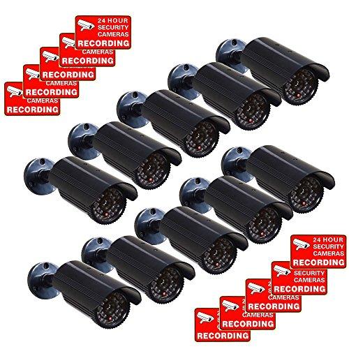 VideoSecu CCTV Fake Security Cameras Dummy IR Infrared LED L