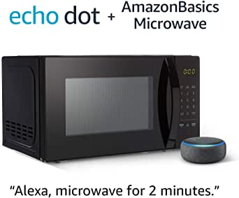 AmazonBasics Microwave with Echo Dot (3rd Gen.) - Charcoal