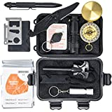 ROUTINE GEAR Emergency Survival Kit - Outdoor Survival Kits of EDC Gear & Cool Gadgets for Hiking, Hunting, Camping, Car & Everyday Carry | Survival Tools w/ Knife & Fire Starter, 4 for Men & Women