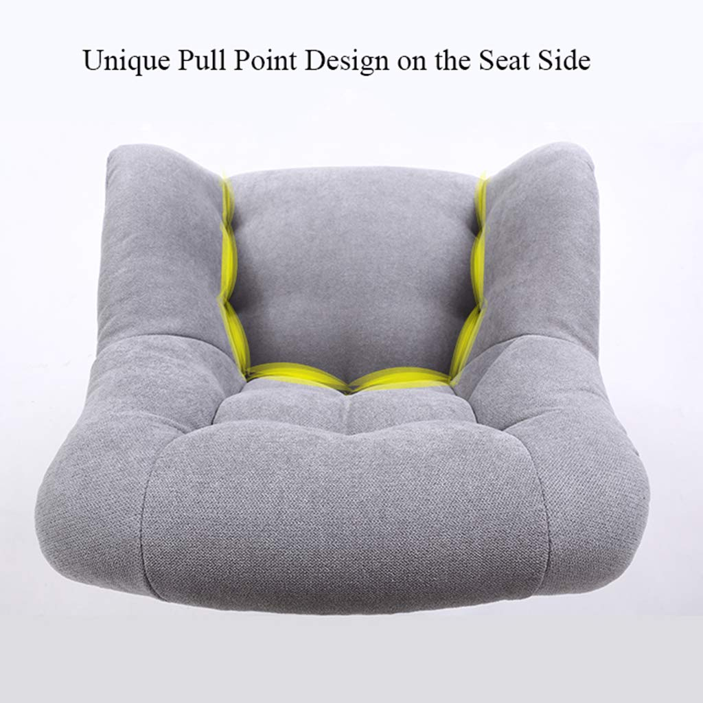 YLMF Hem kontor skrivbordsstol flanell kudde och ryggstöd justerbar höjd och fixerat armstöd svängbar kontorsstol femstjärniga stålfötter Khaki
