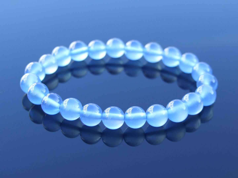 Green Tigers Eye Dyed Natural Gemstone Bracelet 6-9/'/' Elasticated Healing Stone