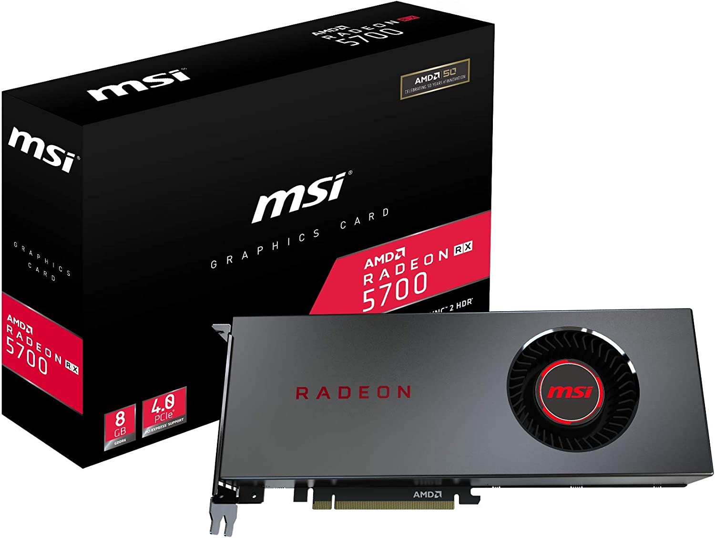 MSI Gaming Radeon RX 5700 256-bit HDMI/DP 8GB GDRR6 HDCP Support DirectX 12 Single Fan VR Ready OC Navi Architecture Graphics Card (Radeon RX 5700 8G)