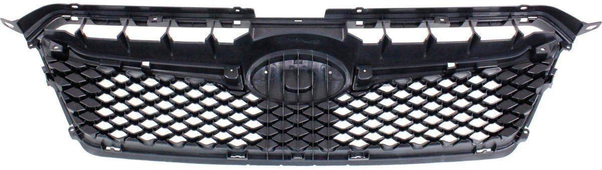 Grille For 2015-2016 Subaru Impreza Textured Black Plastic