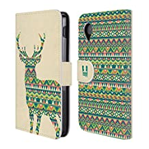 Head Case Designs Deer Patterned Animal Silhouettes Leather Book Wallet Case Cover For LG V10