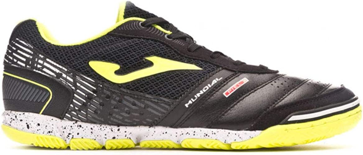 Joma Mundial, Zapatilla de fútbol Sala, Black-Lime: Amazon.es ...
