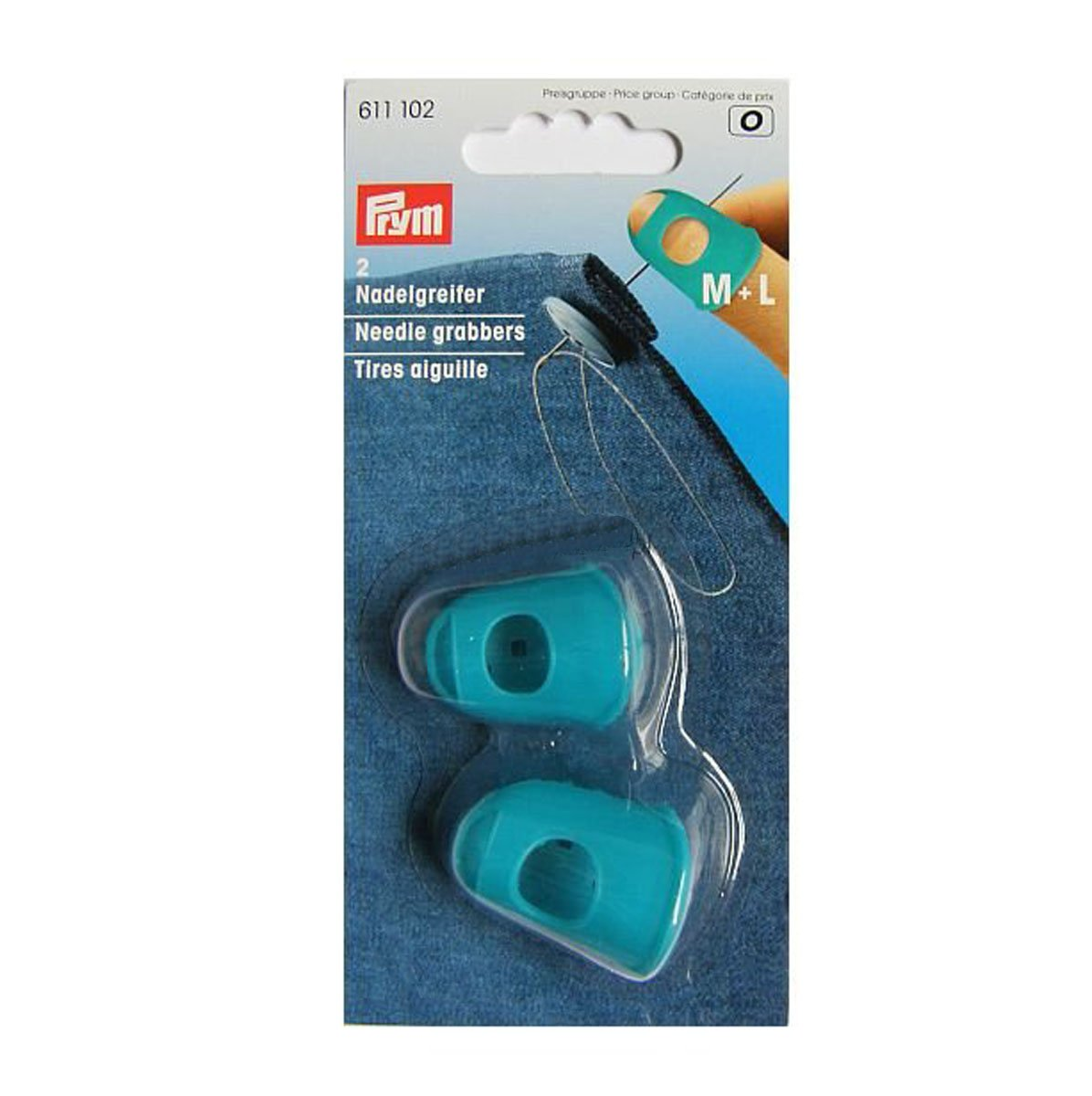 Prym Needle Grabber with Breathable Slots and Cut Out Tips Blue
