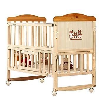TYUE Lit bébé-Bois Massif sans Peinture lit d\'enfant surpiqûres Bed ...