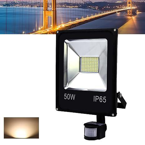Hengda® LED Foco proyector detección de movimiento Reflectores con Sensor de Movimiento Lámpara Exterior LED