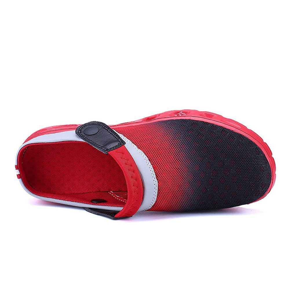 CCZZ Men's and Women's Summer Breathable Mesh Beach Sandals Slippers Quick Drying Water Shoes Amphibious Slip On Garden Shoes B07CDR39V4 US 8.5=EU 42|Red