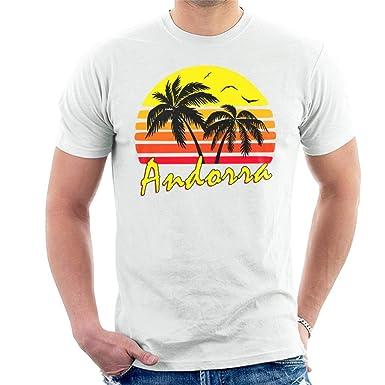 Cloud City 7 Andorra Vintage Sun Mens T-Shirt: Amazon.es ...