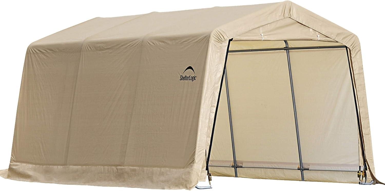 Shelterlogic Instant Garage Series 1015 Autoshelter Tan 10 X 15 Feet Amazon Ca Sports Outdoors
