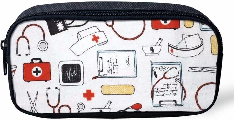Coloranimal Kawaii Niños Escuela Suministros Estuche Enfermera Impreso Pen Box: Amazon.es: Oficina y papelería
