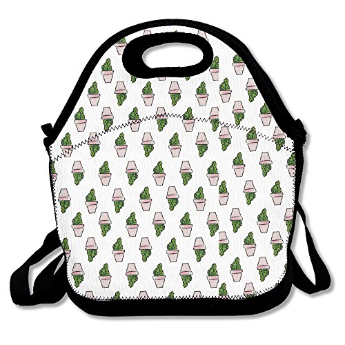 Xiisxin Cute Cactus Lunch Tote Bag - Large & Thick Insulated Tote - Suit For Men Women - Coupons Bans Ray For