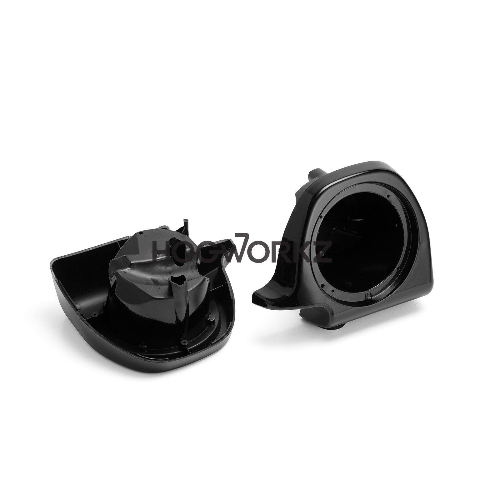 """Hogworkz 6.5/"""" Speaker Pod Mounts for /'14-/'17 Harley Lower Fairings Vivid Black"""