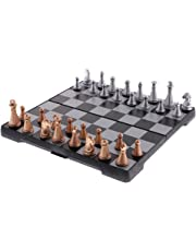 MagiDeal Magnetic Travel Chess Set With folding Chess Board Educational Toys Durable