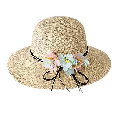 d67b80ed1 Amazon.com: Summer Baby Summer Flower Breathable Hat Large Brim ...