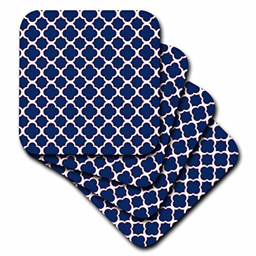 3dRose cst 165919 3 Quatrefoil Pattern Coasters
