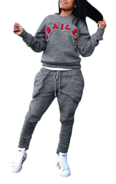 Conjunto Deportivo Mujer Sudadera Y Pantalones Deportiva Set Otoño 2 Juegos Fashion Invierno Fitness Ropa Casual Mode De Marca Cuello Redondo Carta ...