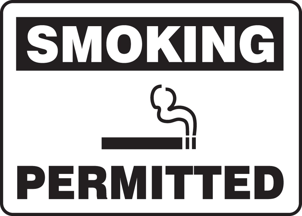 black On White Vinyl 7x10 Accuform MSMK958VS Adhesive Vinyl Sign 7 Length x 10 width x 0.004 Thickness 7 Length 10 Wide LegendSmoking Permitted 7 Height