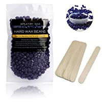 Cera Depilatoria Brasiliana Professionale, Halicer Wax Depilazione Ceretta Brasiliana in Pelle Senza Strisce Indolore Ceretta Wax Cera Calda -100g