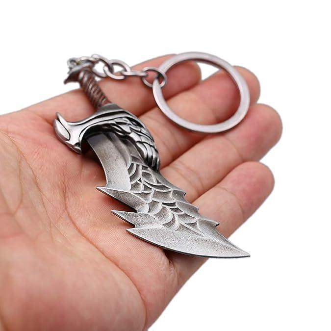 Amazon.com: Llavero con diseño de armas de Kratos de Dios de ...