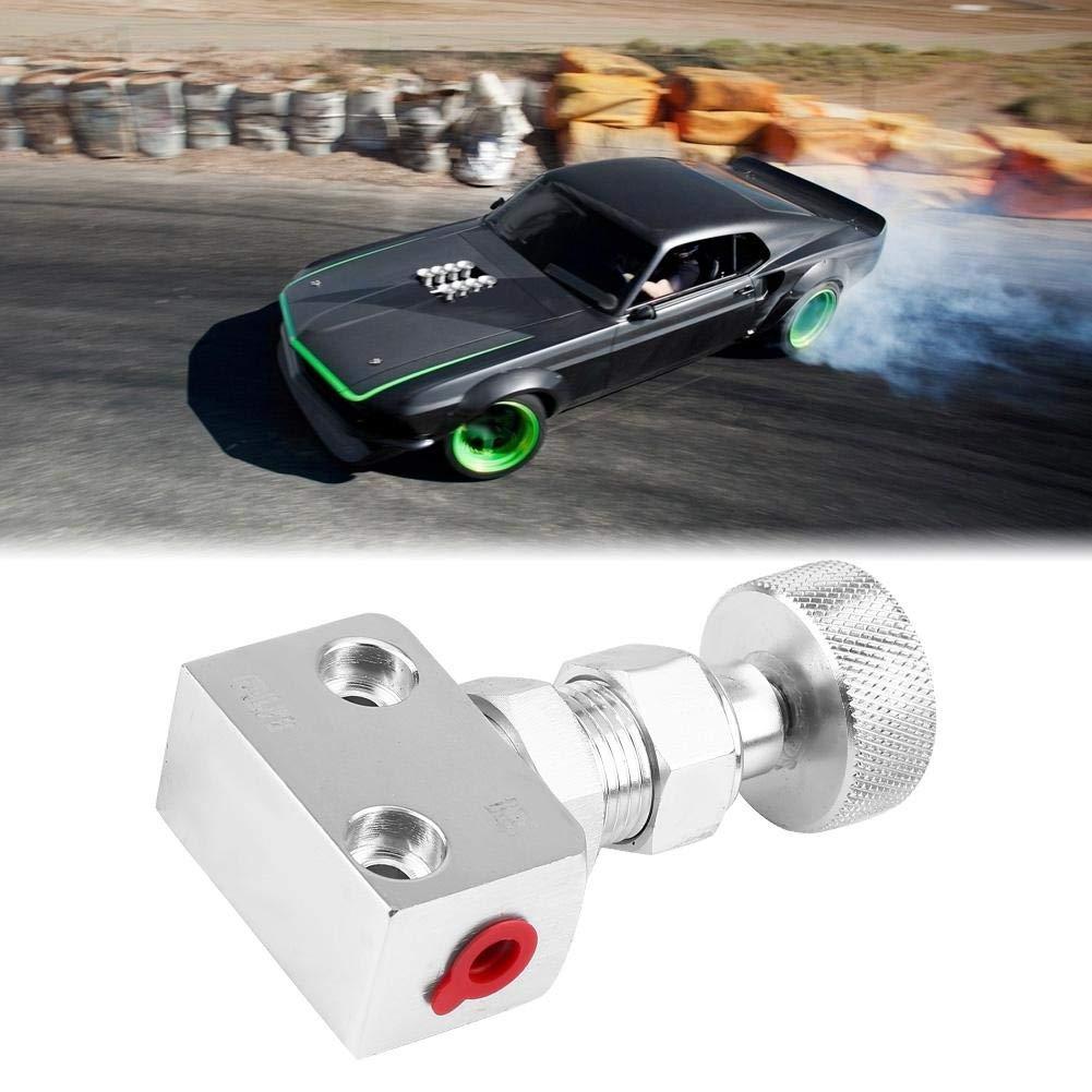 Silver Car Brake Proportioning Valve Universal Aluminum Motorsport Brake Shut Off Valve Pressure Regulator