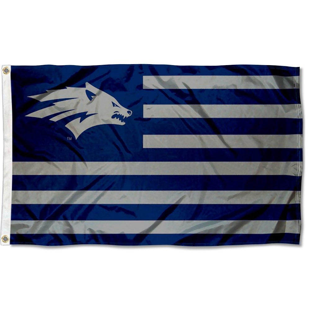 Nevada Wolfpack AmericanとストライプNation Flag B07CMDJQWP 13288
