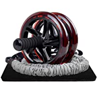 RHYTHM FUN Ab Roller Wheel for Abs Workout, 3-in-1 Springback Ab Roller & Resistance Bands Set Ab Wheel Roller for Core Workout Ab Workout Equipment for Women Men Ab Carver Equipment for Home Exercise